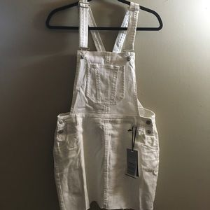 NWT White Denim Overall Skirt